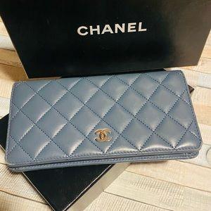 Chanel Denim Blue Wallet
